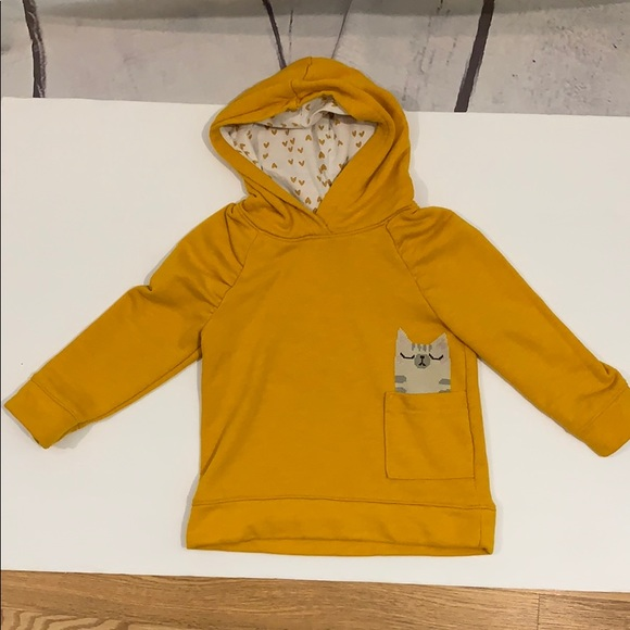 Cat & Jack Other - Girls 3T pull over yellow hoodie